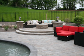 Landscape Design Artificial Waterfalls Fountains And Ponds Outdoor Kitchens Outdoor Fireplaces